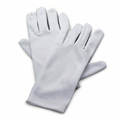 Fun Express Adults Polyester Gloves, White 6 Pair