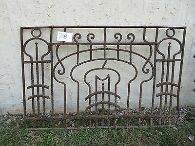 Antique Victorian Iron Gate Window Garden Fence Architectural Salvage #758
