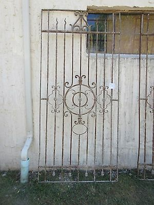 Antique Victorian Iron Gate Window Garden Fence Architectural Salvage #786