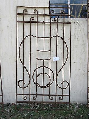 Antique Victorian Iron Gate Window Garden Fence Architectural Salvage #789