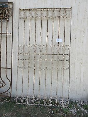 Antique Victorian Iron Gate Window Garden Fence Architectural Salvage #787