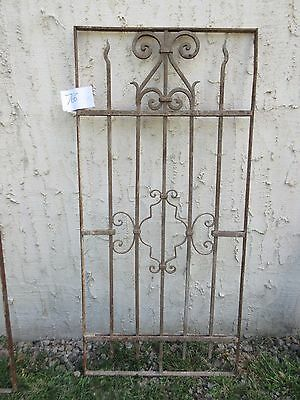 Antique Victorian Iron Gate Window Garden Fence Architectural Salvage #766