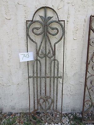 Antique Victorian Iron Gate Window Garden Fence Architectural Salvage #748