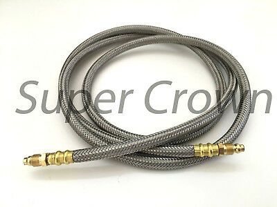 """Details about  /High Pressure Flexible Stainless Mesh Wrap Lube Hose Bijur 5//32/"""" x 61/"""" SSA"""