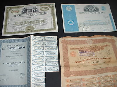 Vintage Certificates 4 Off(A3)  1926 To 1968  Share / Stock Free U.k P&p