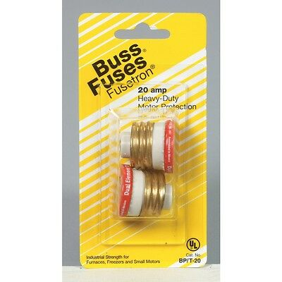 (2 Pack) Cooper Bussmann 20 Amp Fuse BP/T-20 Heavy Duty Motor Protection