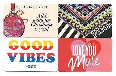 Lot (4) Victoria's Secret Gift Cards No $ Value Collectible incl/ Christmas