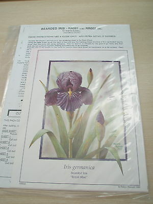 Art Prints with Instructions for Paper Tole - BEARDED IRIS PLUS FREE GIFT