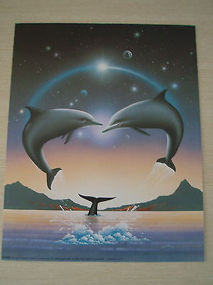 ART PRINTS/PAPER TOLE KIT -  Dolphins meeting in the sky PLUS FREE GIFT