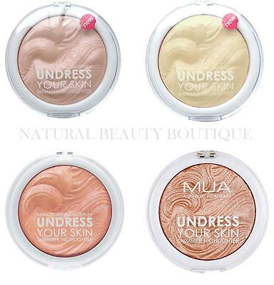MUA MAKEUP ACADEMY UNDRESS YOUR SKIN Shimmer HIGHLIGHTER POWDER AMBER PINK GOLD
