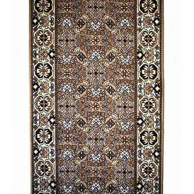 Hallway Runner Carpet Rug Brown 67cm Wide Rubber Backed Bidjar Per Metre Floor
