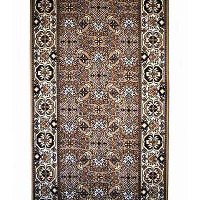 New Hallway BIDJAR Carpet Hall way Runner RUBBER BACK 67cm wide $20 pm Brown