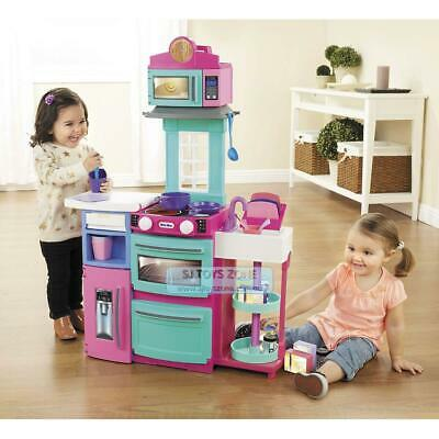 Little Tikes Cook 'N Store Kitchen Pink Kids Pretend Role Play Cooking Toy