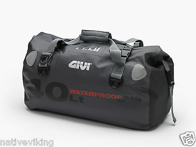 GIVI WP400 WATERPROOF luggage DRY roll BAG 40 litre TAIL BAG for MOTORCYCLE new