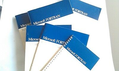 Vintage 1989 Microsoft FORTRAN Ver5.0 Manuals for OS/2 and MSDOS
