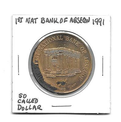 (I) So Called Dollar 1991 1st National Bank of Absecon New Jersey