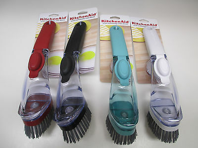 KitchenAid soap-dispensing sink brush in choice of color