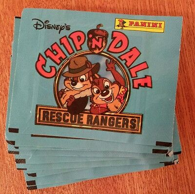 Lot Of 15 Packs Vintage 1989 Disney Chip 'n Dale Rescue Rangers Panini Stickers