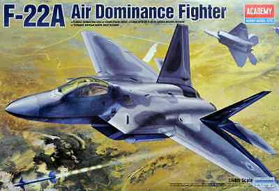 Academy 1/48 F-22A Raptor Military Plastic Model Kit 12212