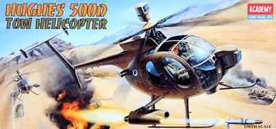 Academy 1/48 Helicopter Hughes 500D TOW Military Model Kit 12250