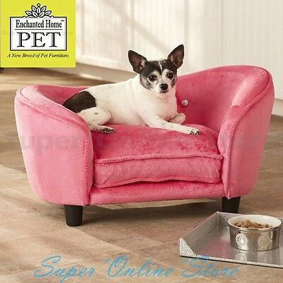 Enchanted Home Dog Pet Cat ULTRA PLUSH Snuggle Bed Lounge Pet Furniture Pink
