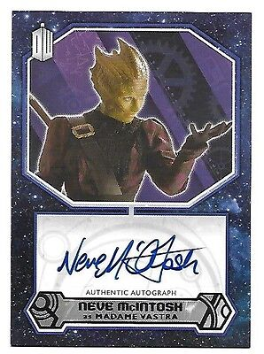 Doctor Who Topps 2015 Autograph Card Neve McIntosh as Madame Vastra Auto