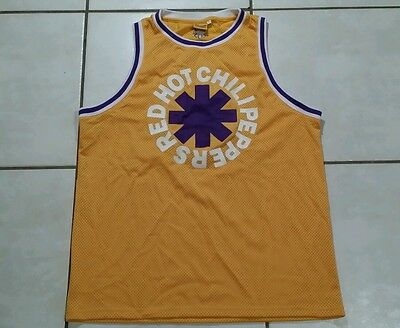 Rare BRAVADO Red Hot Chili Peppers Lakers Basketball Jersey Men's 2XL