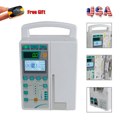 New IV Fluid Infusion Pump With Voice Alarm for Medical or Veterinary Use CE FDA