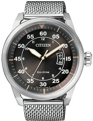 Citizen Eco-Drive AW 1360-55F. Stainless Steel Mens Sports Watch. Look Sharp.