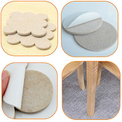 18X Self Adhesive Floor Furniture Wall Chair Scratch Protector Felt Round Pads