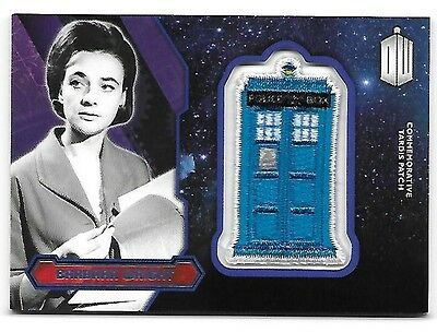 Doctor Who Topps 2015 TARDIS Patch Card Barbara Wright Purple Parallel 12 of 99