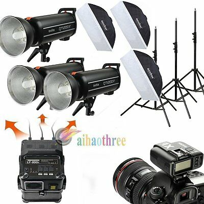 Godox QT1200II 1200W HSS 1/8000s Powerful Outdoor Studio Flash Light Battery Kit