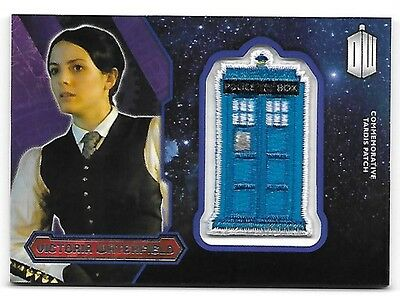 Doctor Who Topps 2015 TARDIS Patch Card Victoria Waterfield