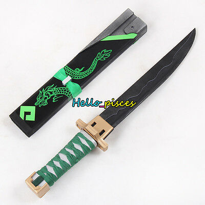 Exclusive Overwatch OW Genji Sparrow Skin Dagger w/ Sheath PVC Cosplay Prop 20""