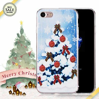 Christmas Festive Santa Snowman Phone Case Cover For iPhone 5S SE 6 6S 7 8 Plus