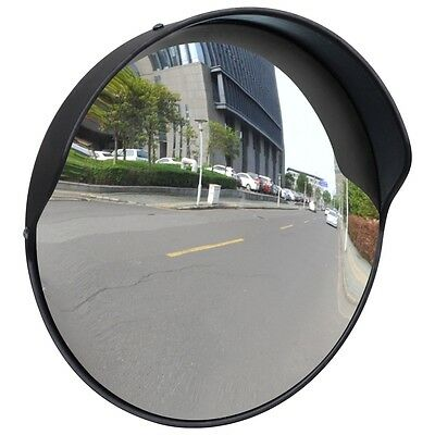 """30cm 12"""" Traffic Safety Outdoor Mirror Convex Security Wall Pole Dome Plastic"""