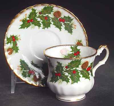 Rosina Queens YULETIDE (SCALLOPED) Demitasse Cup & Saucer 6969074