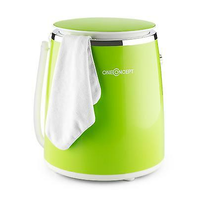 Green Portable Washing Machine Quick Clothes Washer Camping Travel Spin 3.5 Kg