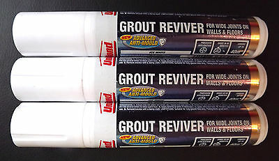 UNIBOND Grout Reviver Pen, For Wide Joints on Walls + Floors 3 x15ml Ice-White!