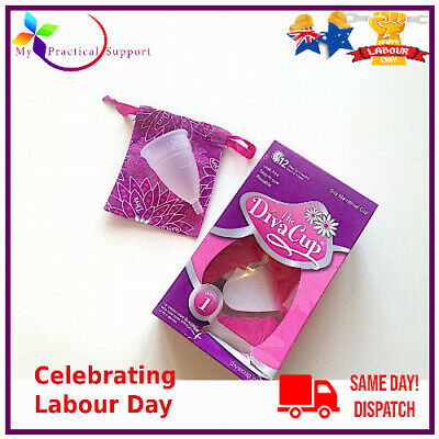 DIVA CUP REUSABLE SILICONE MENSTRUAL CUP MODEL 1  Pre- Childbirth NEW STOCK