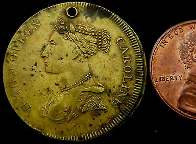 "S330: 1820 Queen Caroline ""British Royal Family At War"" Medal.  Read below"