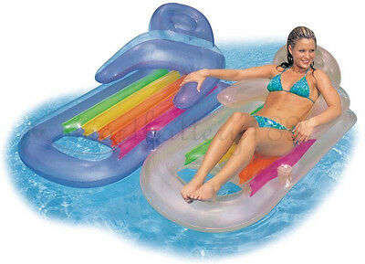 PVC Inflatable Swimmig Pool Beach Sea Sun Lounger Air Bed Lilo  Float Chair HOT