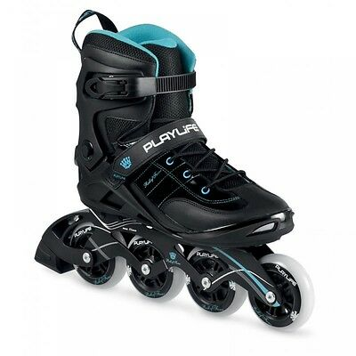 Playlife Roll of Fame 3 Inline Recreational Skates / Rollerblades Black Blue
