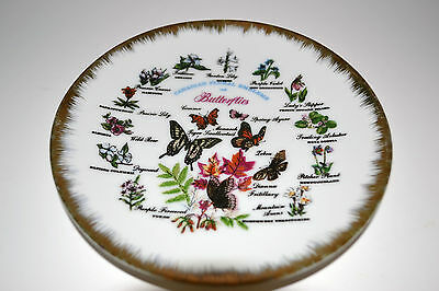 Collector Plate - Canadian Floral Emblems & Butterflies 6 1/4""