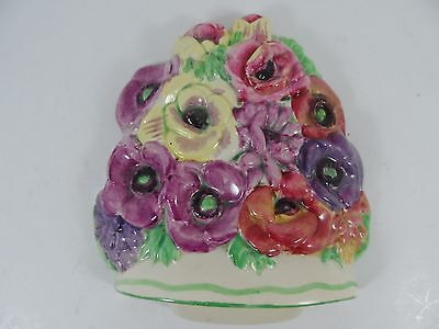 Rare Beswick Basket of Flowers Wall Plaque No 565