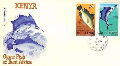 Kenya First Day Cover 1977 Fish