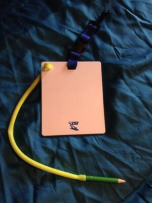 IST Divers Slate & Pencil NEW With Clip, Pencil Attached BNWot