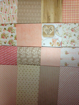 16 SHEET TASTER PACK 8 x 8 FIRST EDITION LOVE STORY CARD MAKING BACKING PAPER