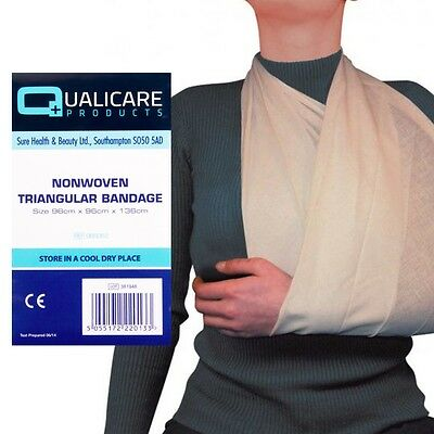 12x HIGH QUALITY Non Woven TRIANGULAR BANDAGE Disposable Arm Sling First Aid Set