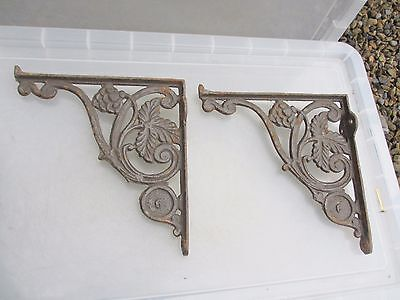 Vintage Cast Iron Shelf Holder Cistern Shelving Brackets Architectural Antique